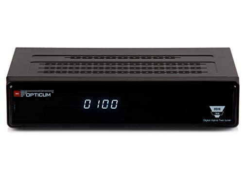 Opticum HD Odin Twin E2 HDTV Linux Satelliten-Receiver (DVB-S/S2, Broadcom BCM 7326 Prozessor, 715 MHz, 2000MIPS, 512MB Flash)
