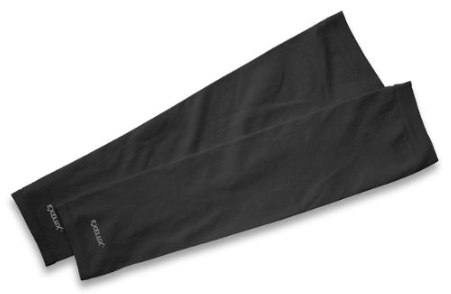リースオープナー観察EXELUX UVカットアームスリーブ ブラック