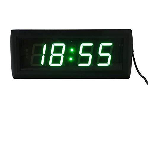 WyaengHai Countdown-Uhr Digitales Stoppuhr Countdown-Uhr Intervalltraining Mit Echtzeit-Fernbedienung Geeignet für Fitness-Studio Fitness (Farbe : Schwarz, Größe : 34X10X4CM)