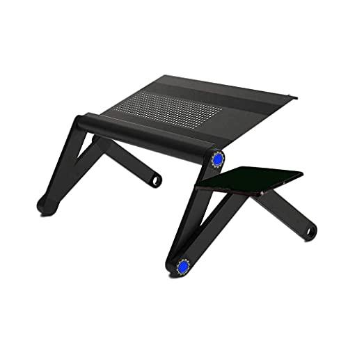 YWYW Soporte de Mesa portátil Ajustable para computadora Bandeja de sofá Cama para Regazo Escritorio para computadora portátil Mesa de Cama con Mesa para ratón Escritorio de Oficina (Color: Blanc
