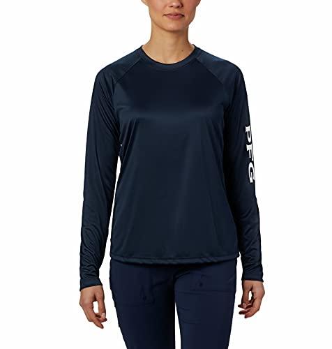 Columbia Tidal T-Shirt à Manches Longues pour Femme Bleu Marine Taille S