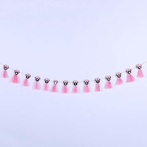 Ningz0l Verjaardag Decoratie, creatieve kwasten letters Happy Birthday Pull Flag Banner verjaardagsfeestje decoratie leveringen achtergrond sfeer 3 stuks roze