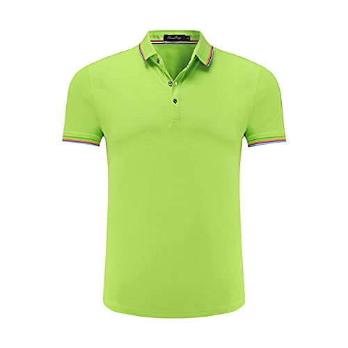 DamaiOpeningcs Wicking T-Shirt -For Gym,Lucong Polo camisa camiseta manga corta media manga trabajo ropa verde_M