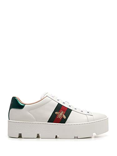 Luxury Fashion | Gucci Dames 577573DOPE09064 Wit Leer Sneakers | Seizoen Permanent