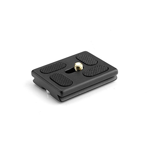 Pergear Quick Rlease Plate with 1/4 Inch Universal Screw Arca Swiss Compatible for Tripod Ball Head