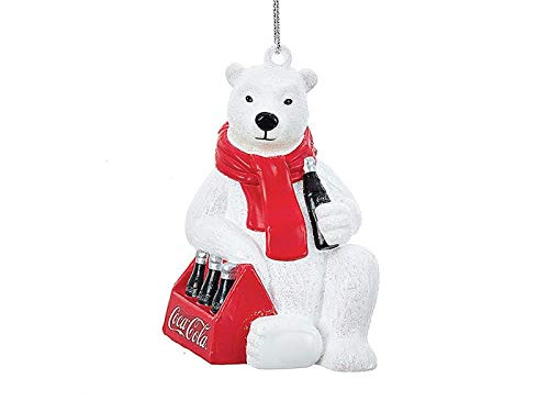Kurt Adler Baumschmuck Eisbär - Baumkugel Bär, Weihnachtsdeko, Christbaumkugel