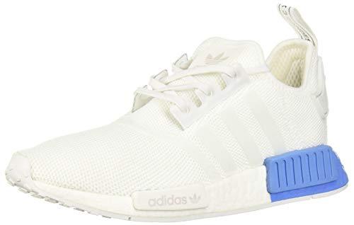 adidas Originals Unisex-Kid's NMD_R1 Running Shoe, White/White/Real Blue, 7 M US Big Kid