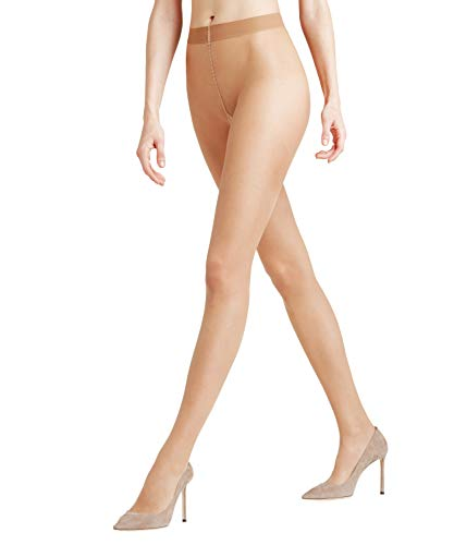 FALKE Damen Strumpfhosen Seidenglatt 15 Denier - Transparente, Leicht Glänzend, 1 Stück, Beige (Powder 4169), Größe: M