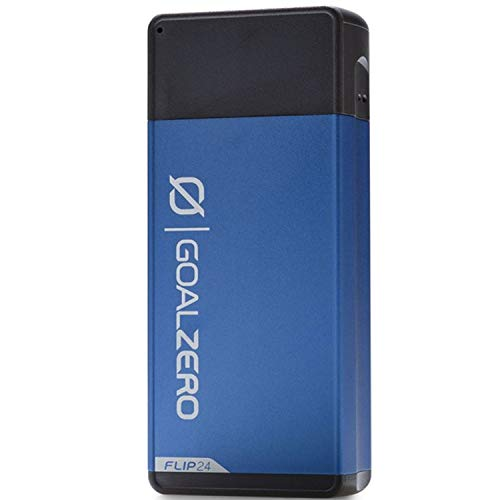 Goal Zéro Flip 24 Powerbank Blau Powerpack 24Wh (3,6V, 6700mAh) Akkupack 2X Phone Charge 3X POV Go Pro Camera 5X Headlamp Charge Flightsafe Charge Through Facility Gewicht 130g