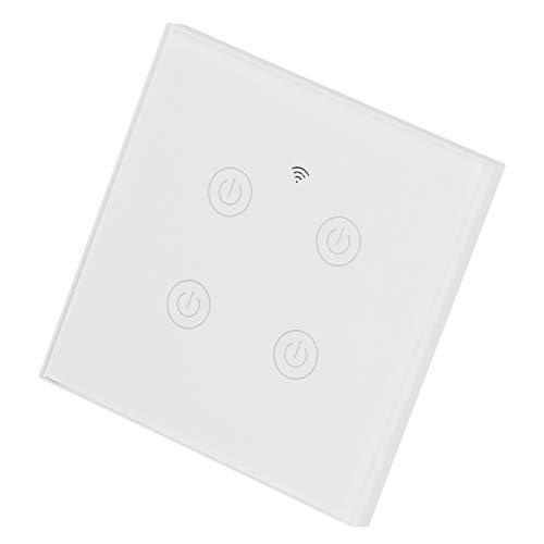 Interruttore Smart WiFi a 4 vie Tipo 86, interruttore tattile a 4 canali, telecomando per elettrodomestici intelligenti, compatibile con Alexa e Google Assistant