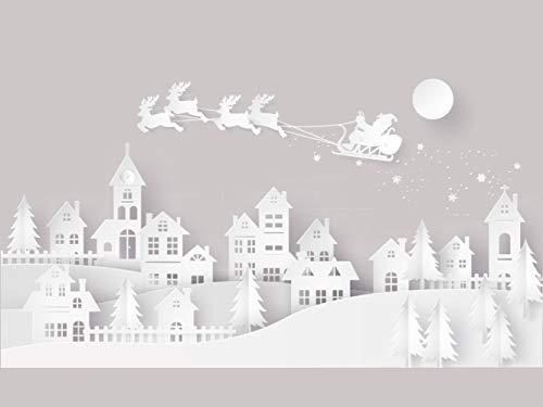 Oedim Vinilo para Escaparates Decoración Navidad Poblado   200 cm de Largo...