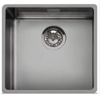 SMEG VSTR50DKX Mira - Fregadero de cocina colgante de acero inoxidable, color plateado envejecido