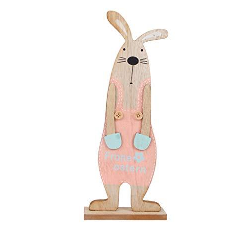NIUQY Niedliches Mini Osterhase Exquisite Premium Holzanhänger hängende Dekoration Personalisiert Mode Dekoration Kit für Sofa Schlafzimmer Auto Dekorative