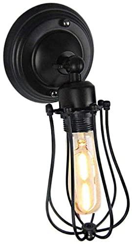 WEM Lámpara de pared de la novedad, forma de pomelo industrial de hierro retro doble individual E27 Gang Corridor Restaurant Cafe