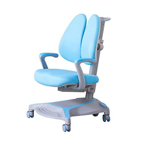 Student multifunktionaler Lernstuhl Heimcomputerstuhl, 3-18 Jahre Alter Kinderschreibstuhl Ergonomischer Stuhl zur Korrektur der Buckelhaltung, selbstsichernde runde Schreibtische und Stühle von Gra