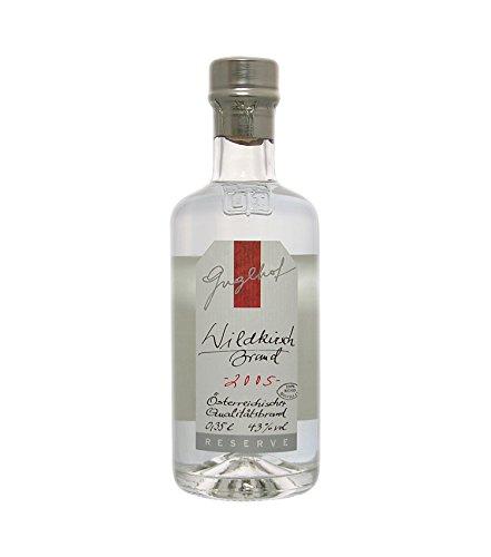 Guglhof: Wildkirsch Brand - Jahrgangsbrand / 43% Vol. / 0,35 Liter - Flasche