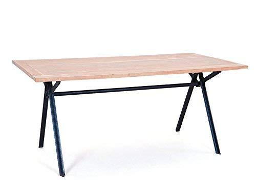 Interlink 85300700 Celbridge Table de Salle à Manger Bois Brun/Noir 90 x 175 x 76 cm
