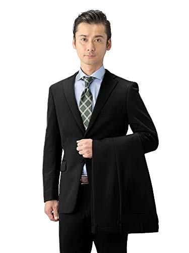 [ハルヤマ] HARUYAMA メンズスーツ 安心価格 折り目が消えにくいプリーツ加工パンツが2本付き 丈夫で長く着られる オールシーズン対応 〈 ビジネス 就活 結婚式 入学式 卒業式にも大活躍 〉 M101180003