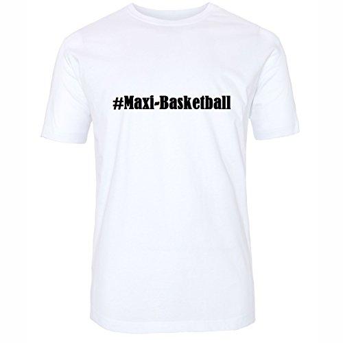 Camiseta #Maxi-Basketball Hashtag con rombos para mujer, hombre y niños en los colores blanco y negro Blanco XXXX-Large