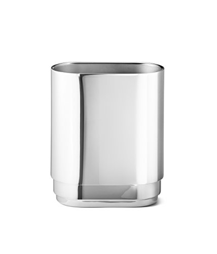 ジョージジェンセンマンハッタン花瓶、鏡面仕上げステンレススチール、スモール