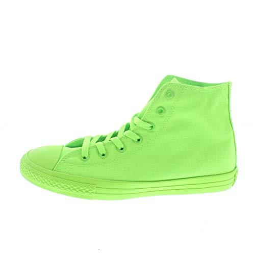 Converse Scarpe Bambina/o Sneakers Alte 656852C Ctas Hi Verde Fluo Taglia 38.5 Verde Fluo