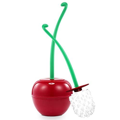 MEILUAIMU Cepillo de Inodoro de Cereza Juego de plástico Cabeza de Cepillo Grueso de Moda Mango Antideslizante Detergente Fuerte Cepillo de Material ABS PP