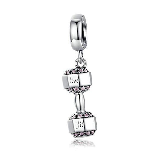 50 Mix Versilbert European Strass Dangle Perlen Beads