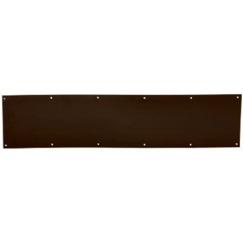 SCHLAGE Lock CO SC8400B-716 6X30 Kick Plate, Age Bronze Bronze Door Kick Plate