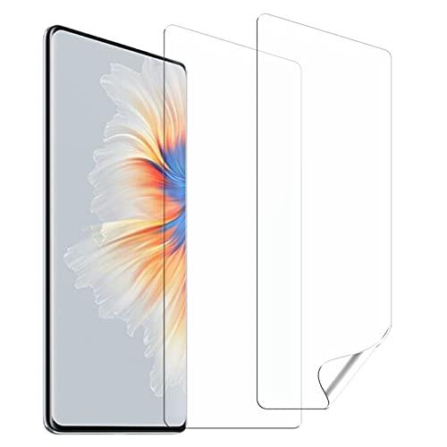 Vqvq Protector Pantalla Soft TPU Compatible con Xiaomi Mix 4, 2 Unidades, HD Film Flexible con Herramienta de Fácil Instalación, Cobertura Máxima, Sin Burbujas, Transparente, Alta Sensibilidad