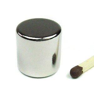 Scheibenmagnet Ø 15,0 x 15,0 mm N45 Nickel - hält 14,4 kg, Neodym Supermagnet Powermagnet Haftmagnet, Magnetscheibe, Zylindermagnet