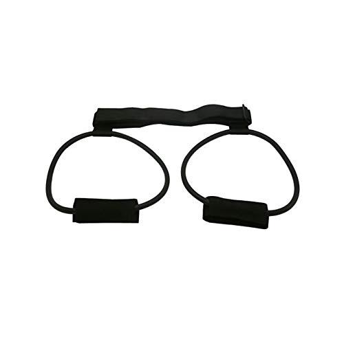 N/B FS Rebotando Dispositivo de Entrenamiento, Cuerda elástica Dispositivo de Entrenamiento en Cuclillas Caderas Salto Pierna Equipos de Gimnasia Cuerda Deportes (Color : Black (60LB))