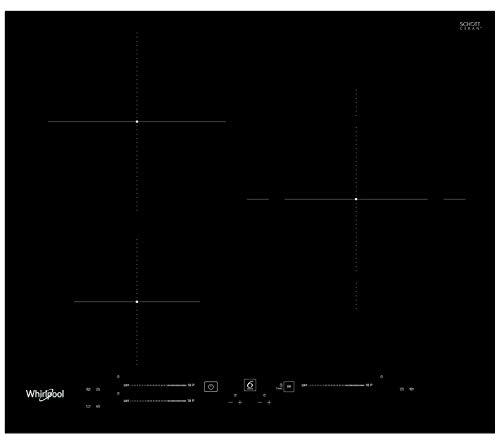 Whirlpool - Placa de inducción WS S6360 BF, 3 quemadores de inducción, intuitivo slider touchcontrol