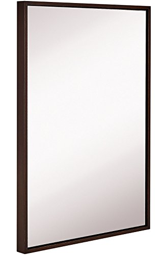 Hamilton Hills Clean Large Modern Wenge Frame Wall Mirror | 24