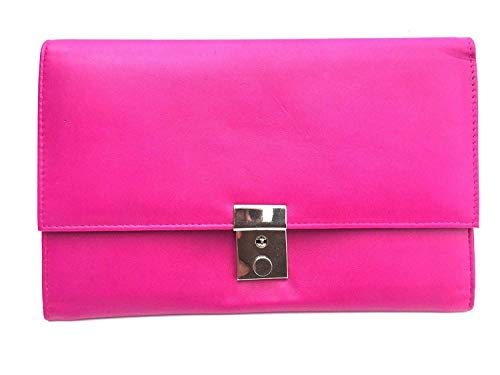 Golunski 1004serratura da viaggio in pelle Portafoglio Organizer porta documenti. Pink