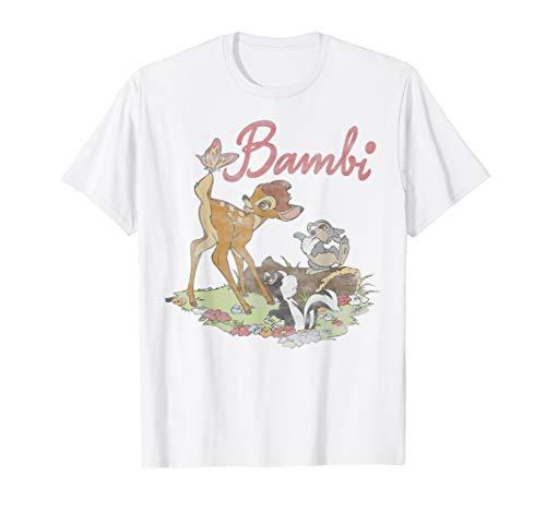 Disney Bambi Thumper Flower Simple Portrait Logo T-Shirt