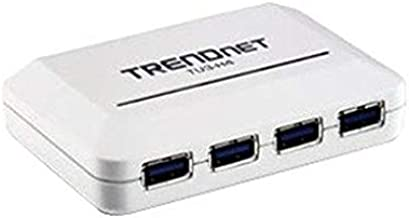 TRENDnet 4-Port USB 3.0 Ultra-Mini Hub, 1M (3ft. USB 3.0 cable), Up to 5Gbps, Power Adapter Included, Plug &Play, Backwards Compatibility with USB 2.0/USB 1.1, TU3-H4
