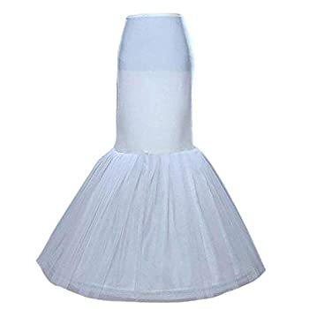 Sisjuly Women s Underskirt Trumpet Floor Length Mermaid Wedding Dress Petticoat Slips for Bridal Dress White One Size