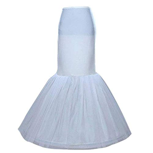 Sisjuly Women s Underskirt Trumpet Floor Length Mermaid Wedding Dress Petticoat Slips for Bridal Dress(White  One Size)