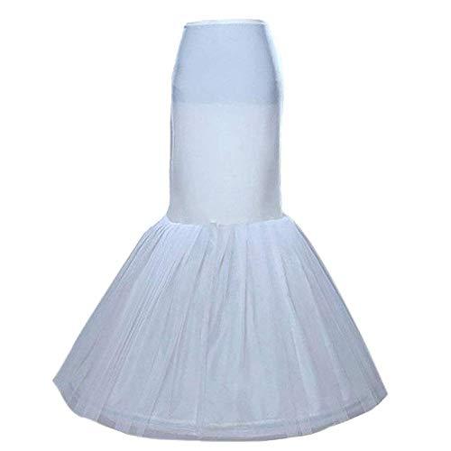 Sisjuly Women's Underskirt Trumpet Floor Length Mermaid Wedding Dress Petticoat Slips for Bridal Dress(White, One Size)