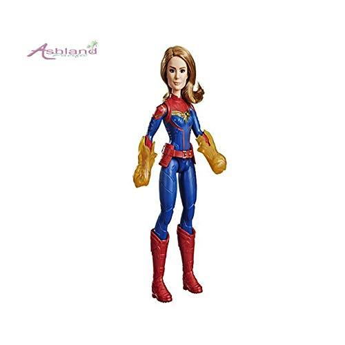 Ashland | Captain Marvel Cosmic Super Hero Doll Inspired Action Figure Girl Boy Toys with Accessory (11.5inch)