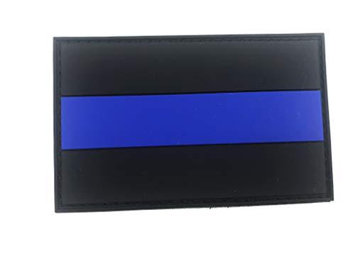 "Aufnäher ""Thin Blue Line"", Flagge, Polizei, Paintball, PVC"