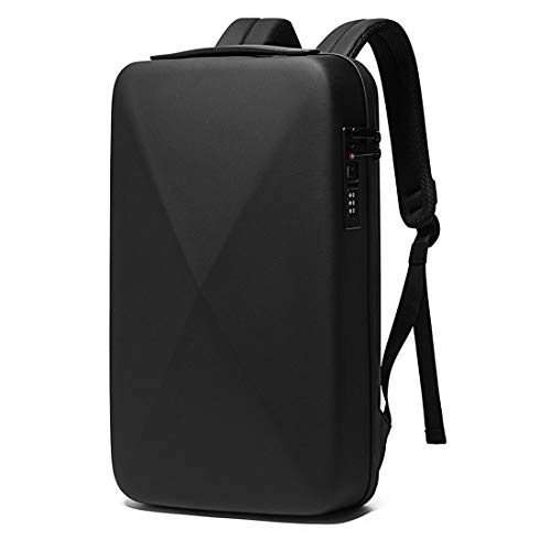 BANGE Multifunctional Hard Shell Waterproof Business Travel Laptop Backpack (Black)