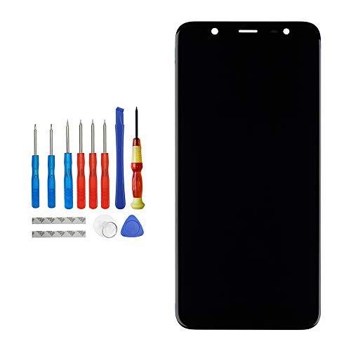 Vvsialeek Pantalla de repuesto AMOLED compatible con Samsung Galaxy J8 2018 J810F/DS de repuesto para reparación de pantalla táctil LCD con kit de herramientas