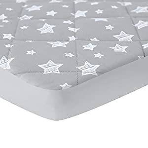 Pack and Play Sheet Quilted, Breathable Thick Playpen Sheets, Lovely Print Mattress Cover 39″×27″×5″ Fits Portable Mini Cribs, Suitable for Graco Play Yards and Foldable Mattress Pack and Play Pad