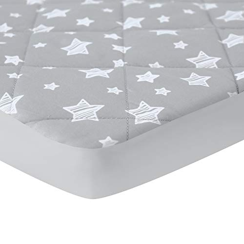 """Pack and Play Sheet Quilted, Breathable Thick Playpen Sheets, Lovely Print Mattress Cover 39""""×27""""×5"""" Fits Portable Mini Cribs, Suitable for Graco Play Yards and Foldable Mattress Pack and Play Pad"""