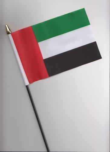 Bandera de mano de los Emiratos Árabes Unidos, 25 cm