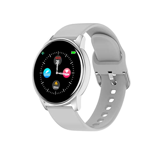 Zl01 Smart Watch,Fitness Bracelet,Ip67 Waterproof,Breath Training Heart Rate Detection,Bluetooth Call,Male and Female Pedometer,Suitable For All Kinds of Mobile Phones,Removable Strap(White)