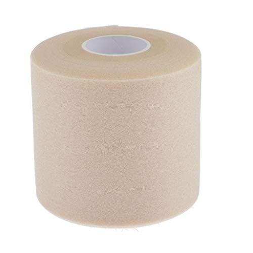 T TOOYFUL Kinesiologie Tape 5cm x 27m Schwamm Kinesiotape Elastische Bandage für Sport - Hautfarbe