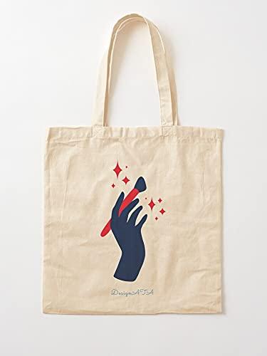 Unique Ata Handpainting Handbrush   Einkaufstaschen aus Segeltuch mit Griffen, Einkaufstaschen aus nachhaltiger Baumwolle