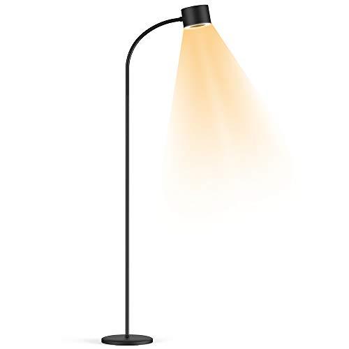 Henzin LED Floor Standing Lamp Dimmable 12 W 800 LM Reading Lamp Floor Lamp for Living Room Bedroom Flexible Gooseneck 3 Colour Temperatures 3 Level Brightness Eye Protection Floor Lamp ¨C Black